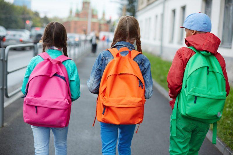Children walking to school