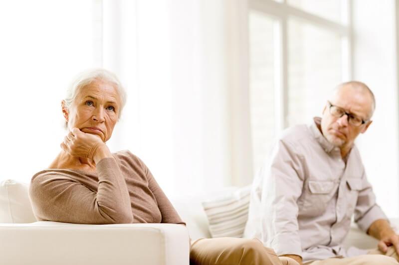 Older Unhappy Couple