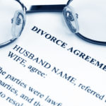 Divorce agreement with eyeglasses