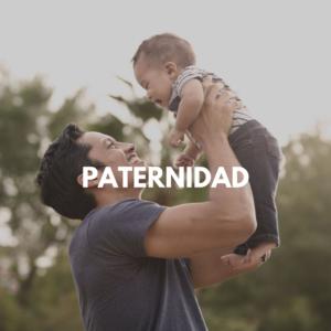 Paternidad con un padre y su bebe