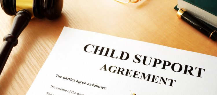 Document with the name child support agreement.