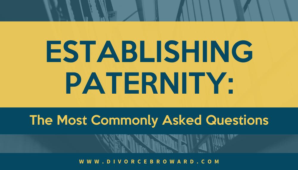 Establishing Paternity infographic
